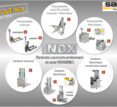 gamme de materiels inox