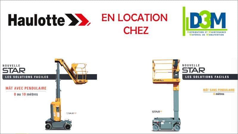 Location de nacelle Nacelles à mât vertical Haulotte STAR 6 et 10